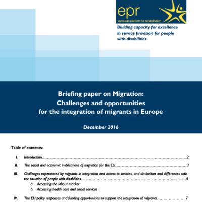 Challenges and opportunities for the integration of migrants in Europe